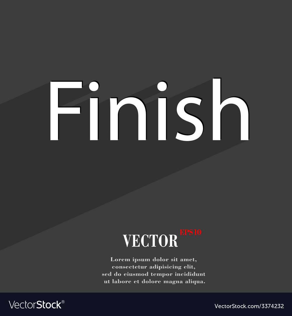 Finish icon symbol flat modern web design with vector | Price: 1 Credit (USD $1)