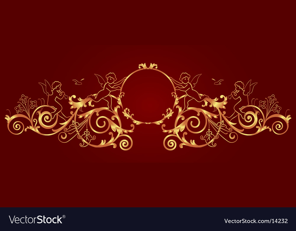Gold framework vector | Price: 1 Credit (USD $1)