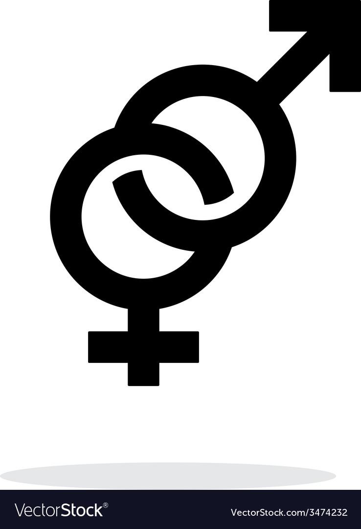 Hetero icon on white background vector | Price: 1 Credit (USD $1)