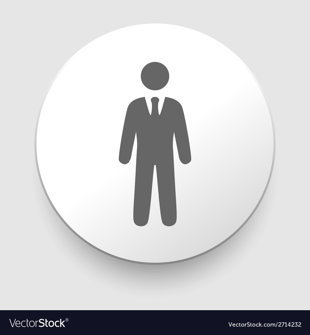 Icons of businessman or manager vector | Price: 1 Credit (USD $1)
