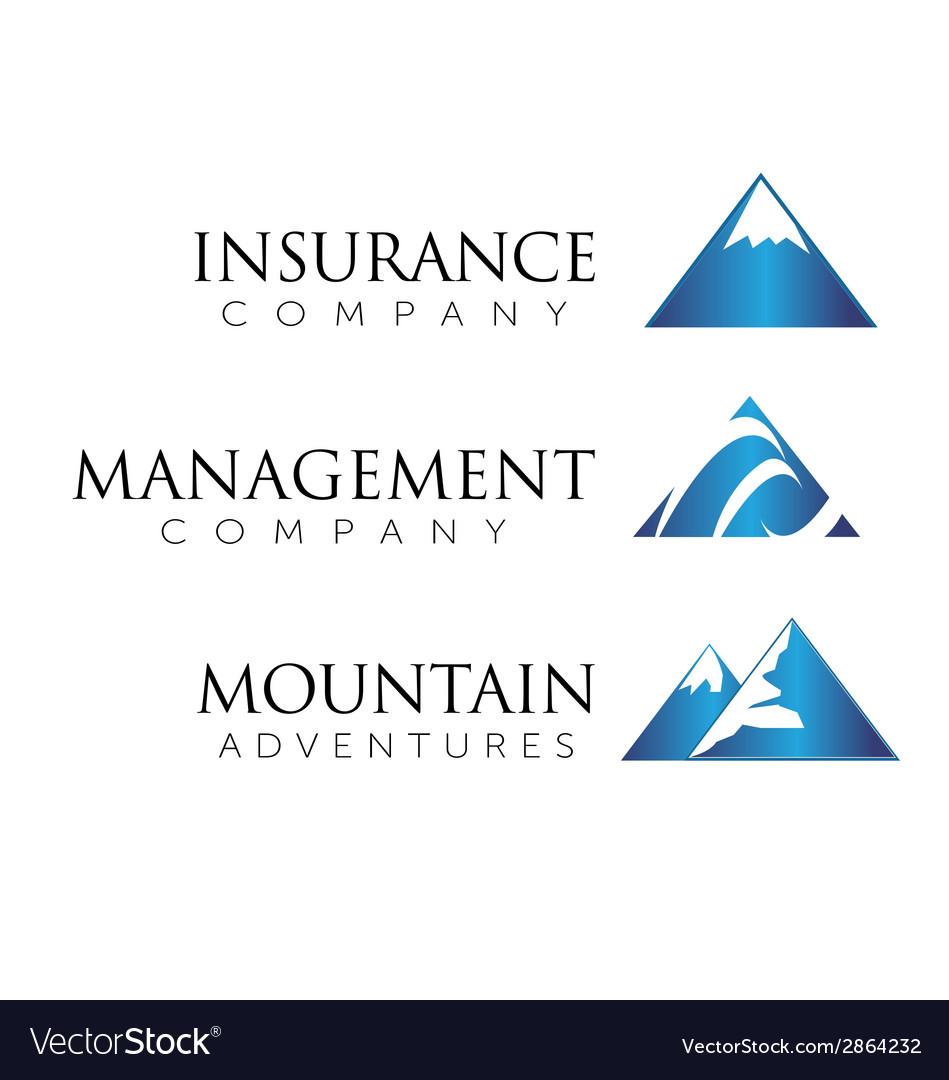 Mountain theme logo vector | Price: 1 Credit (USD $1)