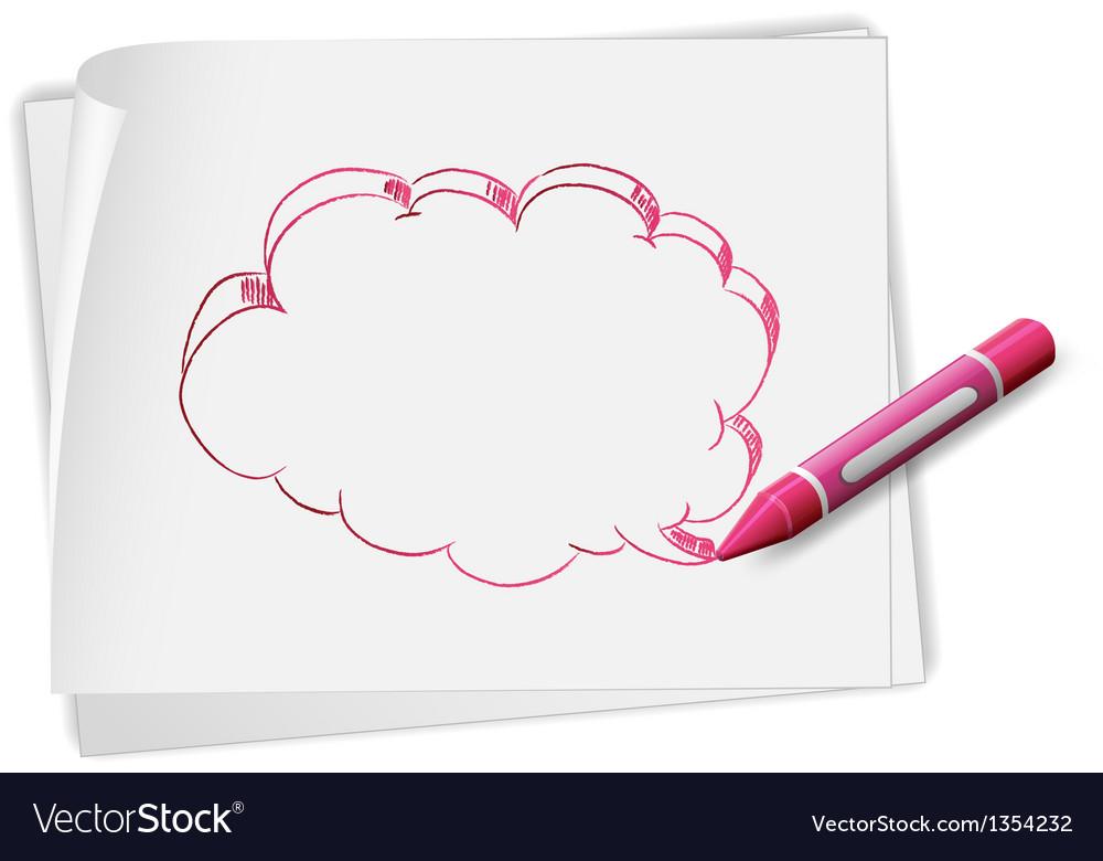 Speech bubble sketch vector | Price: 1 Credit (USD $1)