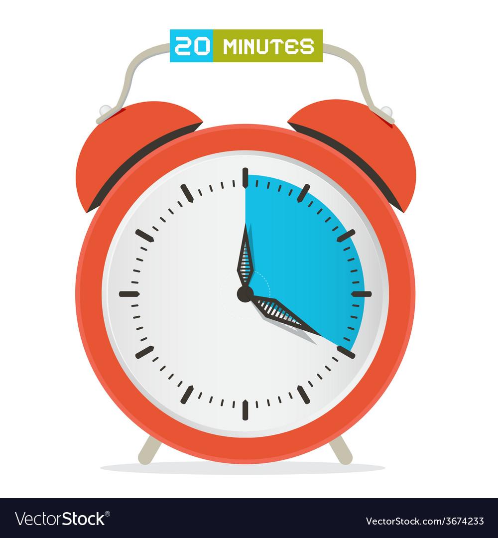 20 - twenty minutes stop watch - alarm clock vector | Price: 1 Credit (USD $1)