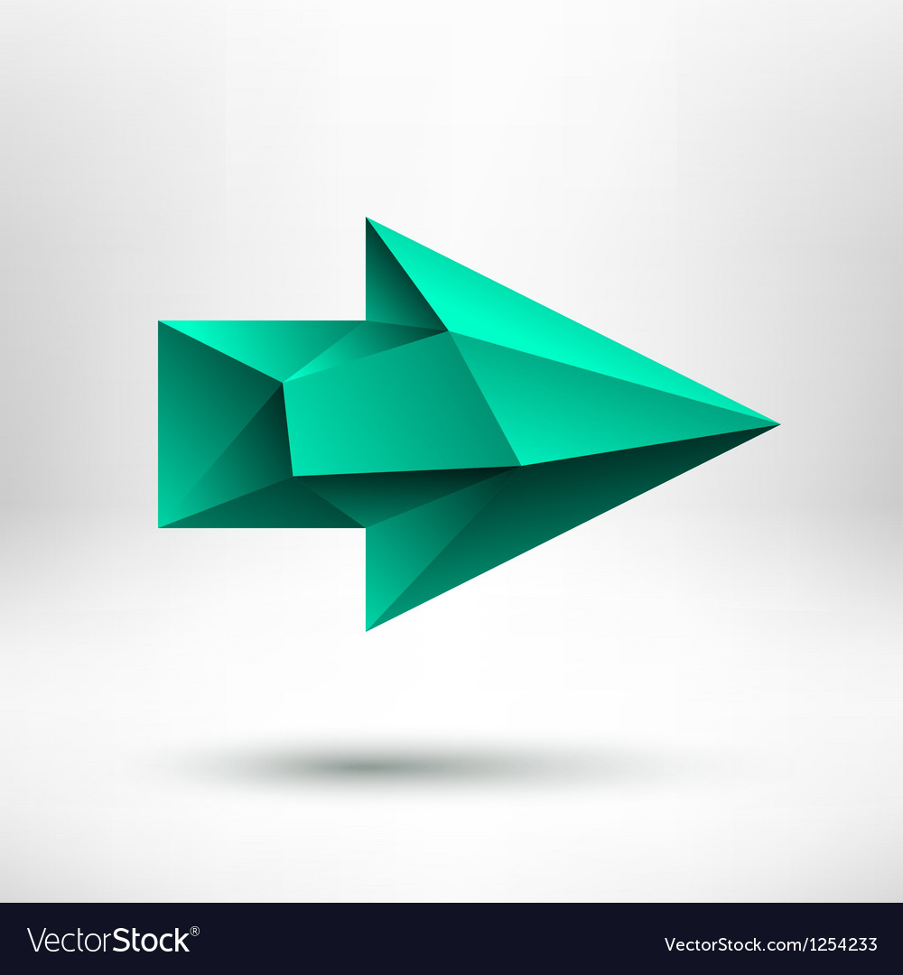 3d green right arrow sign with light background vector | Price: 1 Credit (USD $1)