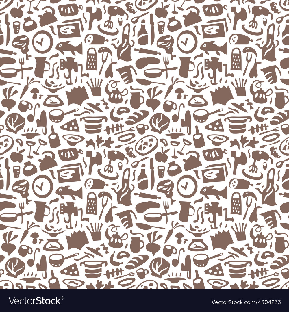Cookery - seamless background vector | Price: 1 Credit (USD $1)
