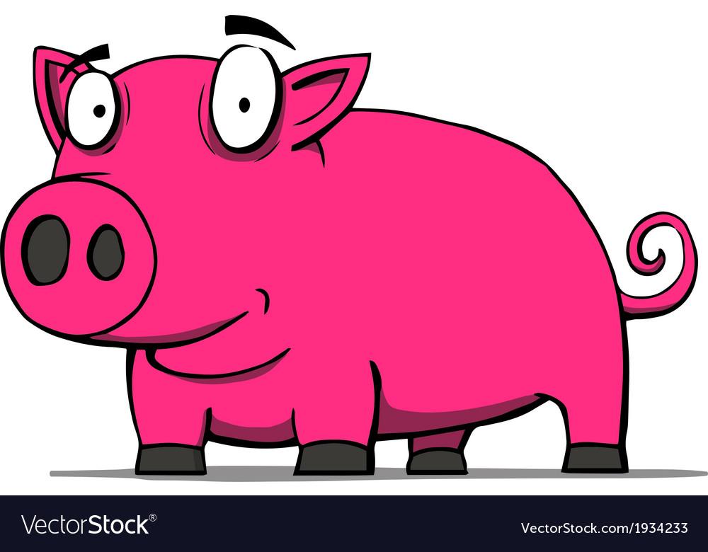 Cute pig cartoon vector | Price: 1 Credit (USD $1)