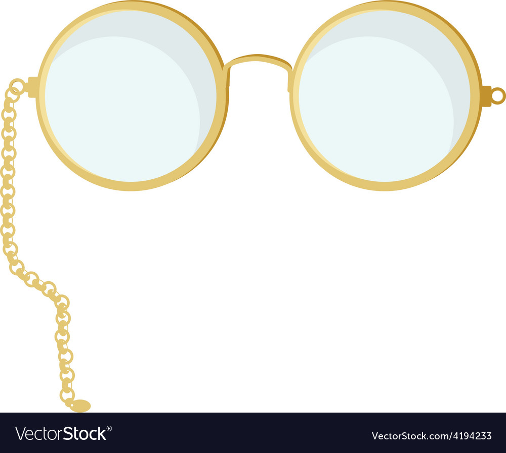 Golden round glasses vector | Price: 1 Credit (USD $1)