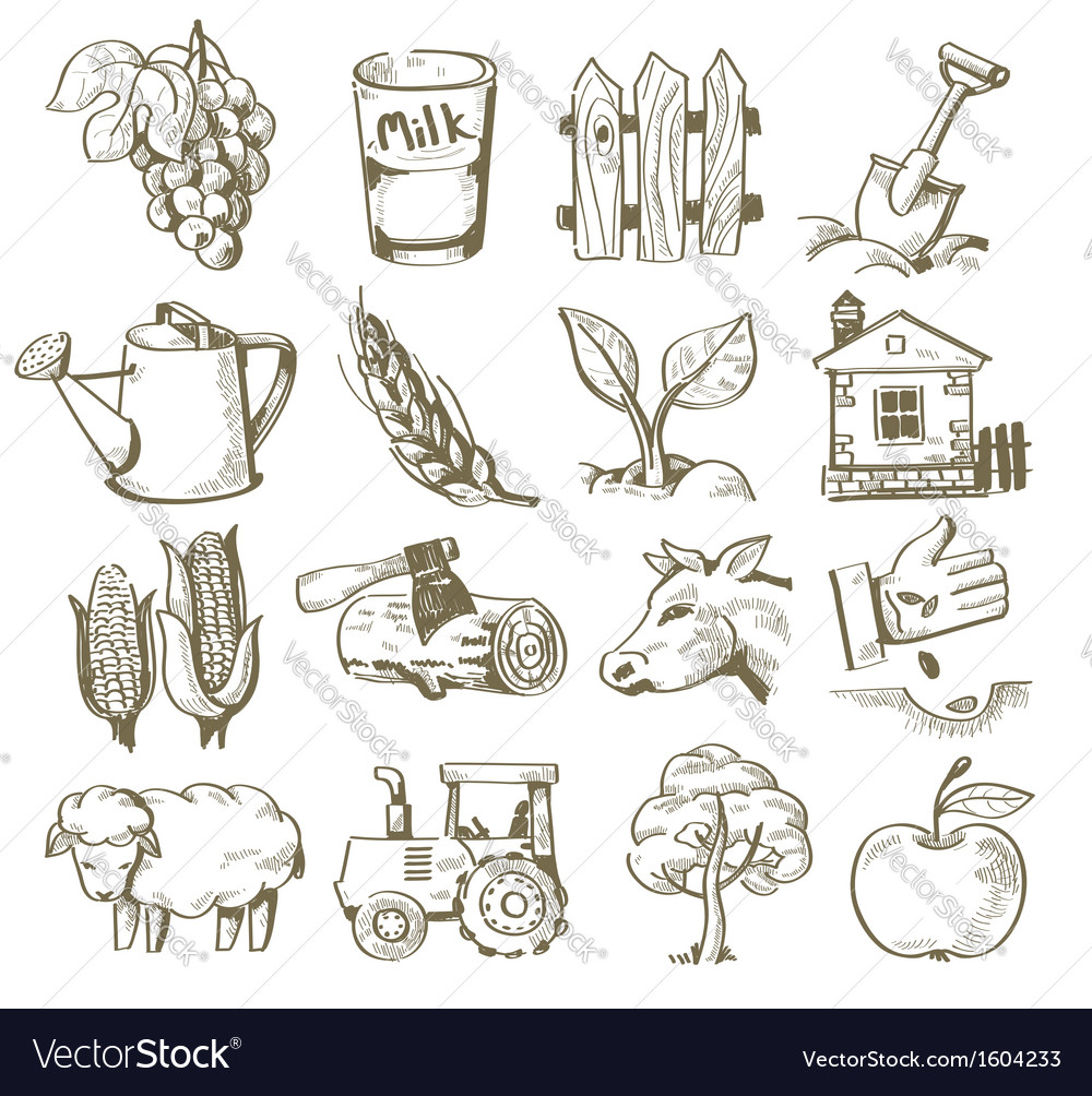 Hand draw village vector | Price: 1 Credit (USD $1)