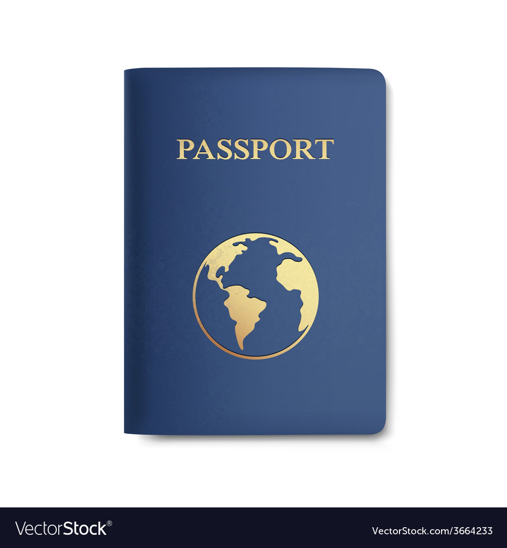 Passport with map isolated on white vector | Price: 1 Credit (USD $1)