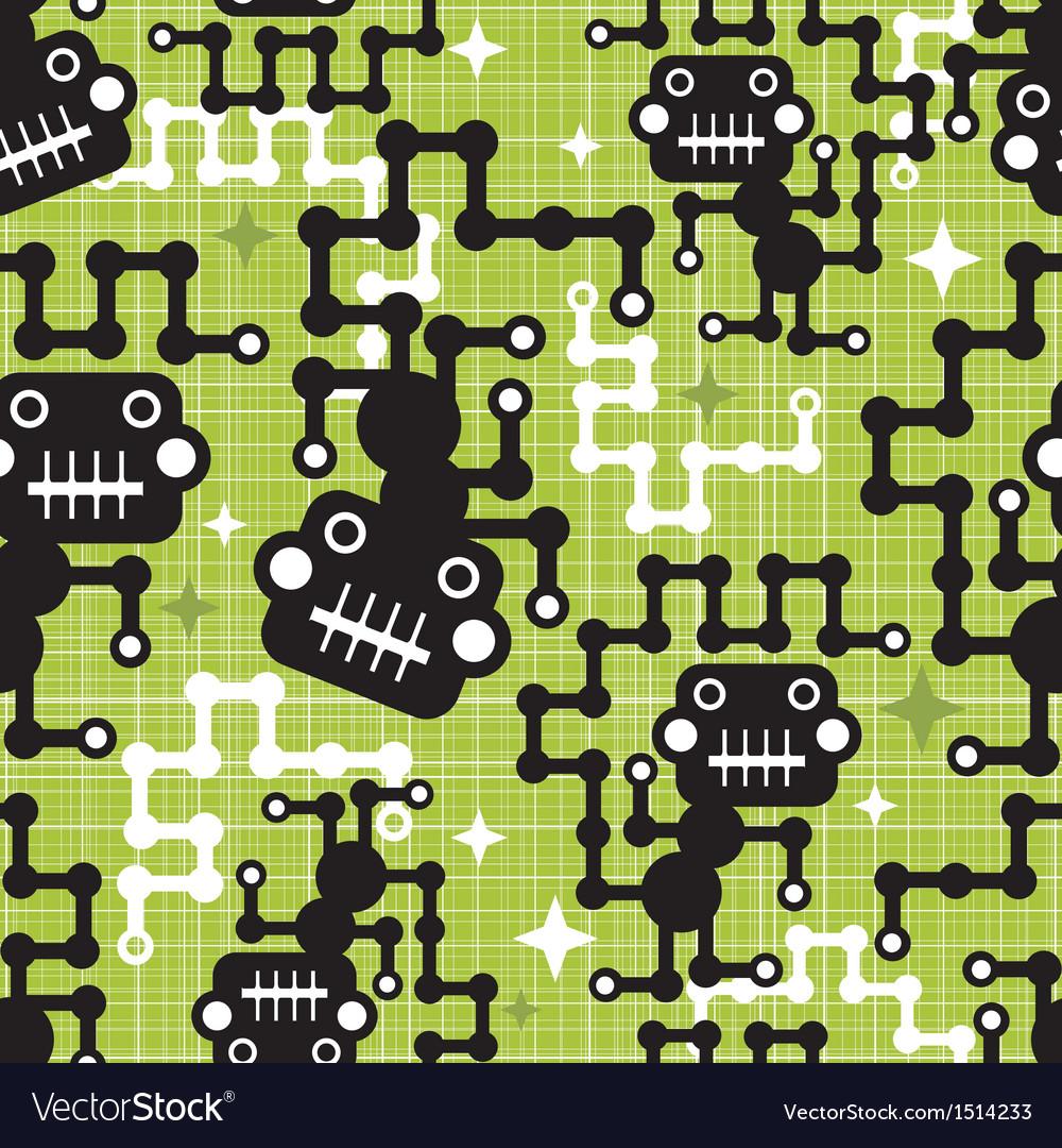 Robot monkey seamless pattern vector   Price: 3 Credit (USD $3)