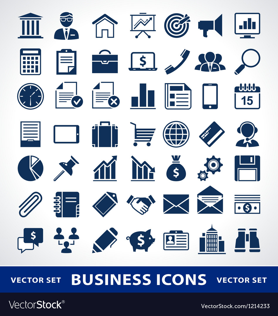 Smple business icons vector | Price: 1 Credit (USD $1)