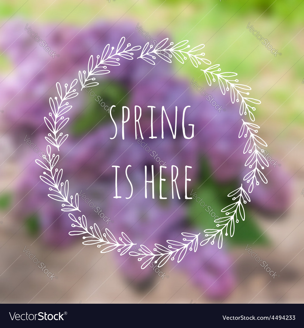 Spring is here blurred background with vector | Price: 1 Credit (USD $1)