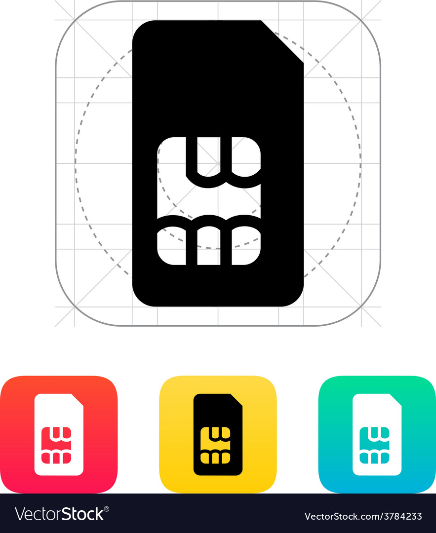 Standard sim card icon vector | Price: 1 Credit (USD $1)