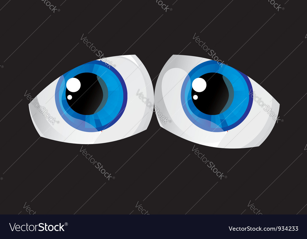 Tired bulging eyes vector | Price: 1 Credit (USD $1)
