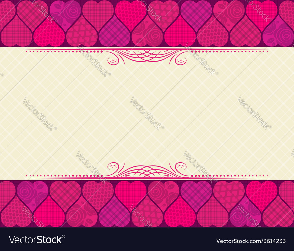 Valentine background with hearts vector | Price: 1 Credit (USD $1)