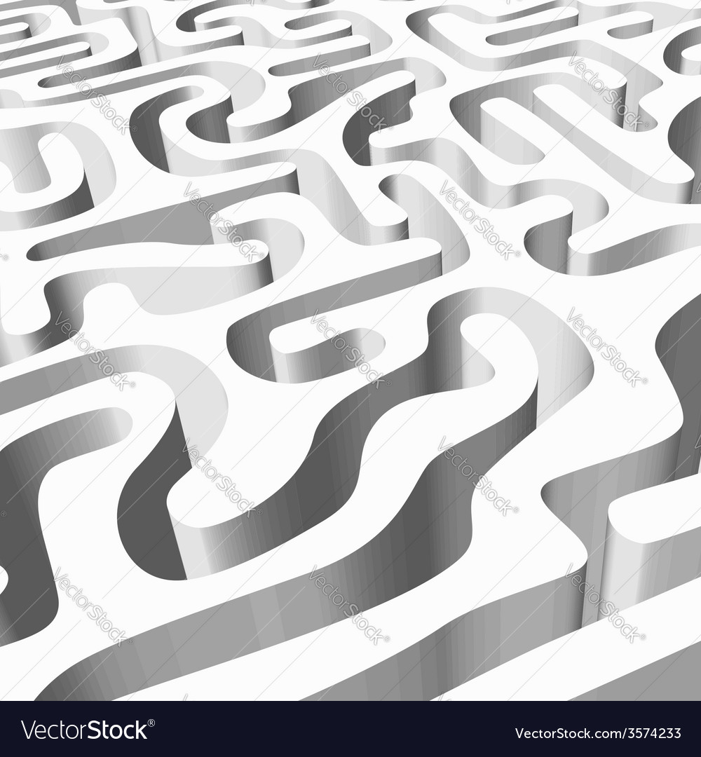 White smooth maze vector | Price: 1 Credit (USD $1)