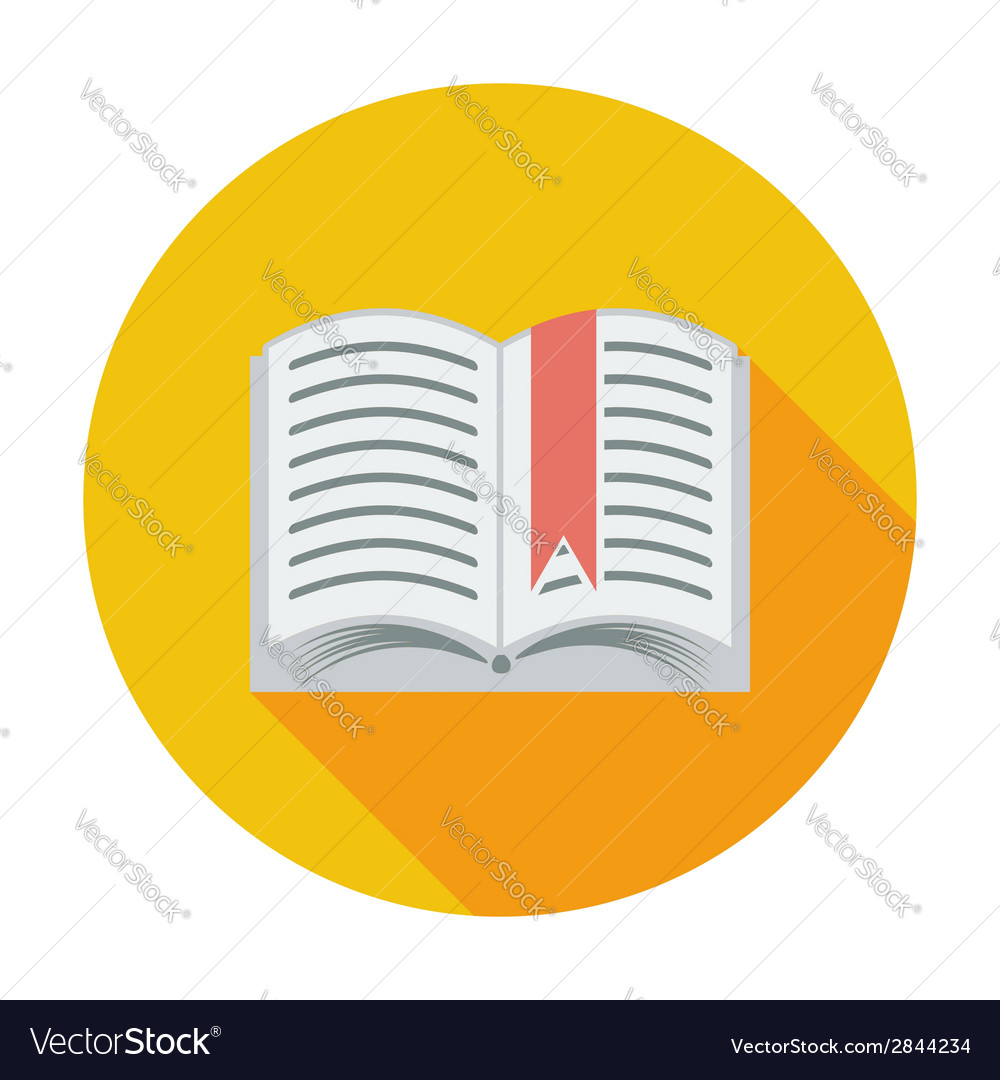 Book single flat icon vector | Price: 1 Credit (USD $1)