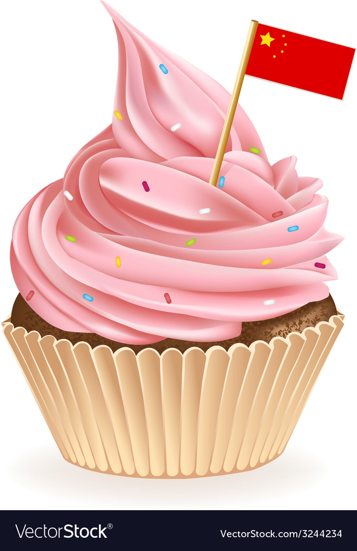 Chinese cupcake vector | Price: 1 Credit (USD $1)