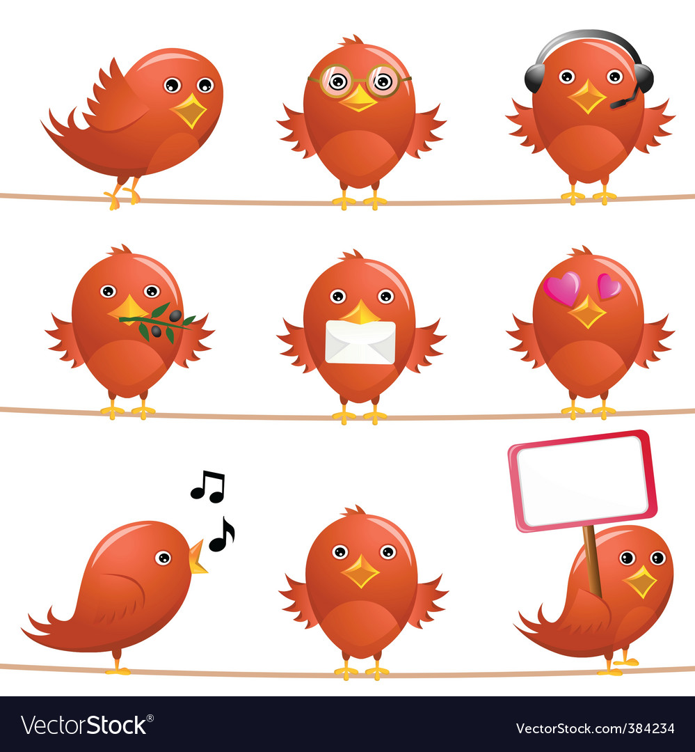 Cute birds vector | Price: 1 Credit (USD $1)