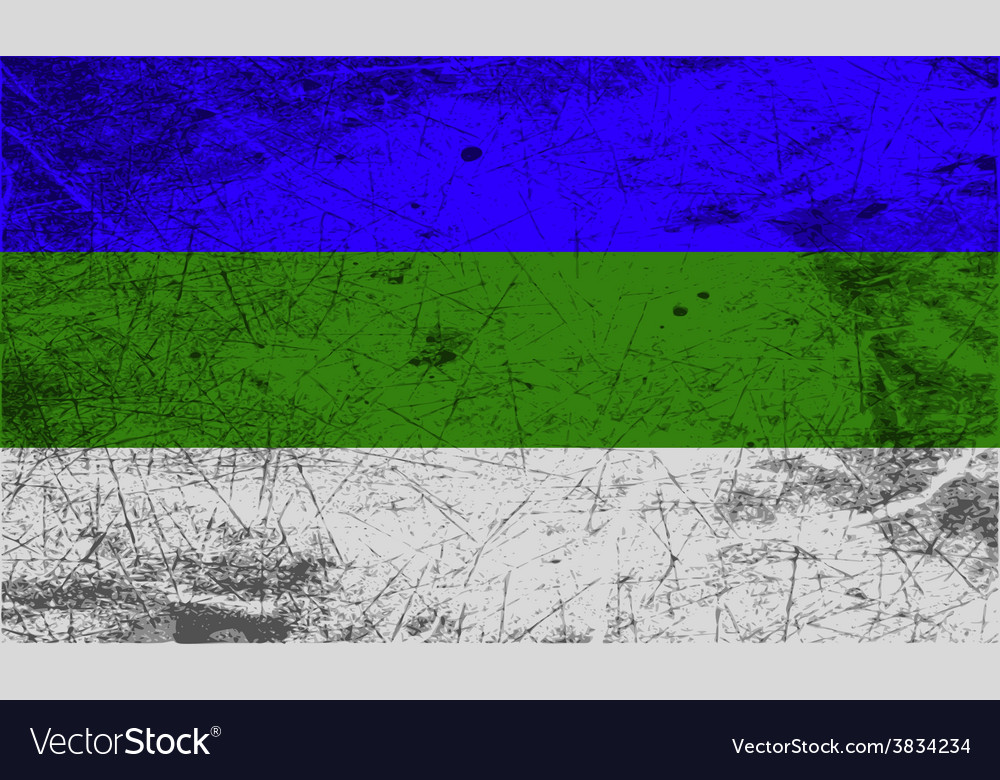 Flag of komi with old texture vector | Price: 1 Credit (USD $1)