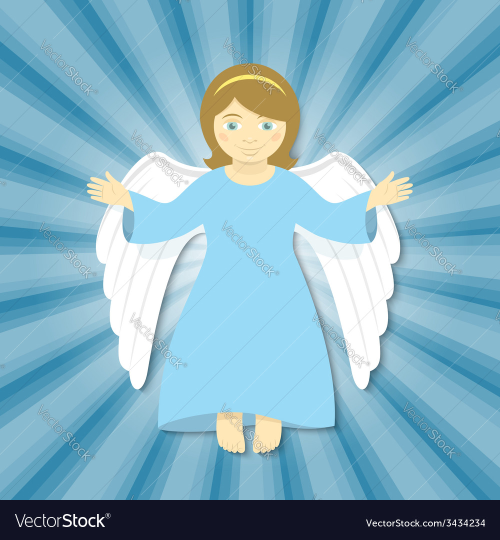 Flying christmas angel with open arms vector | Price: 1 Credit (USD $1)