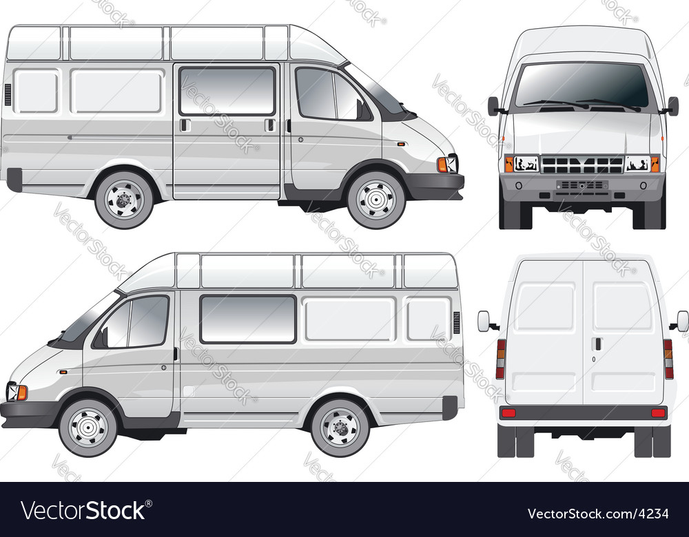 Mini bus vector | Price: 3 Credit (USD $3)