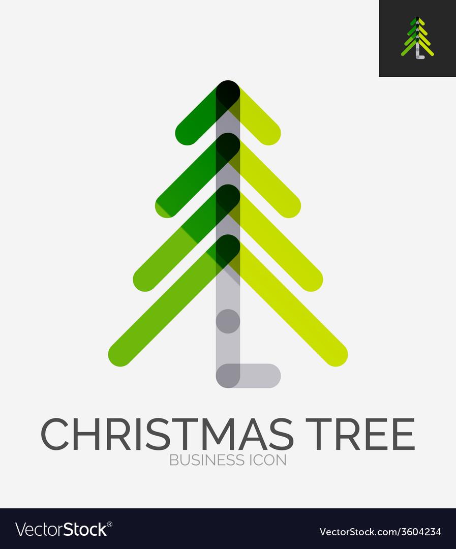 Minimal line design logo christmas tree icon vector   Price: 1 Credit (USD $1)