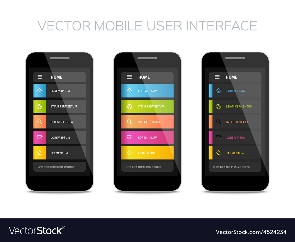 Mobile user interface design vector | Price: 1 Credit (USD $1)