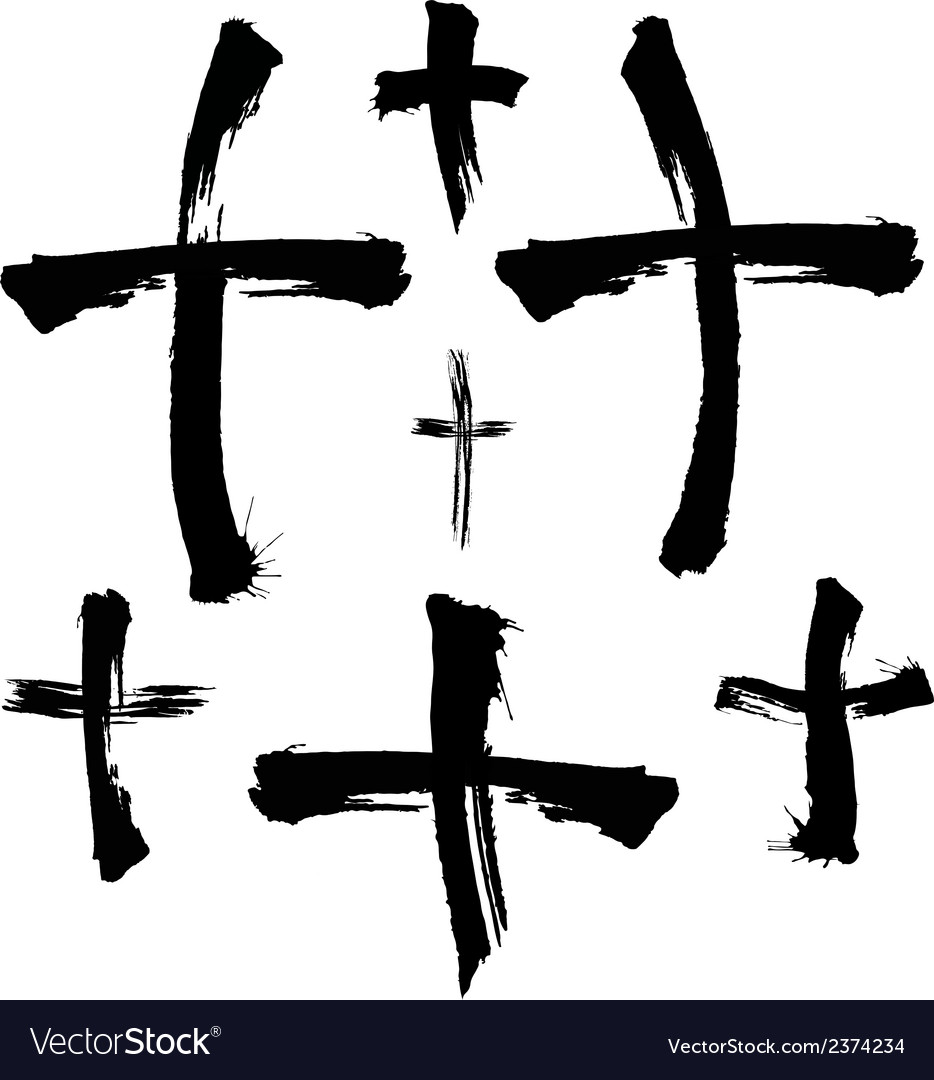 Painted crosses vector | Price: 1 Credit (USD $1)