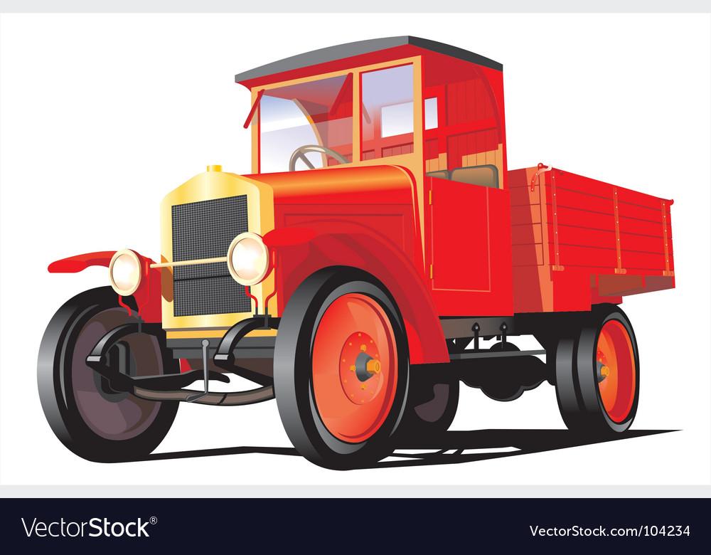 Retro truck vector | Price: 3 Credit (USD $3)