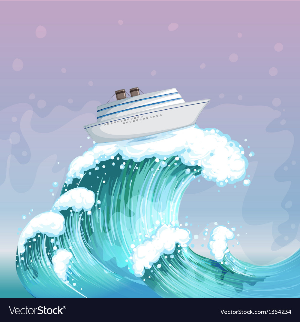 Ship riding wave vector