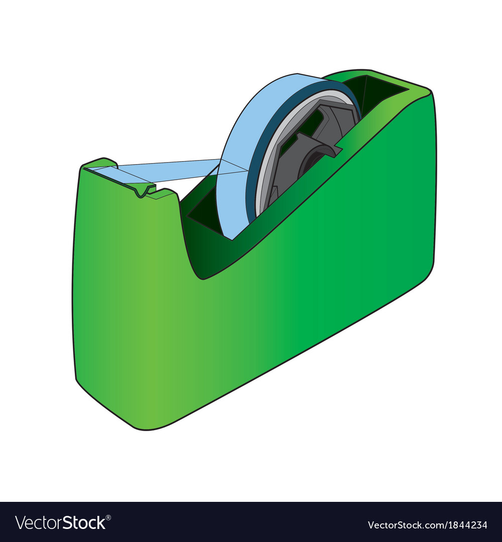 Tape dispenser with adhesive tape vector | Price: 1 Credit (USD $1)