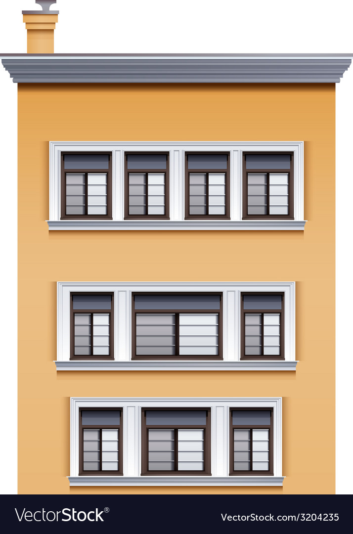 A tall office building vector | Price: 1 Credit (USD $1)