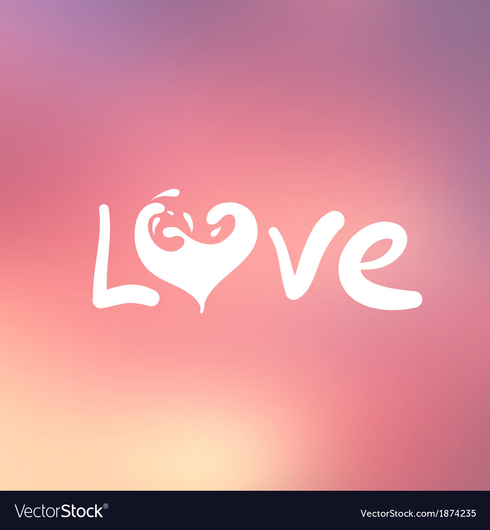 Abstract background with text for love confession vector | Price: 1 Credit (USD $1)