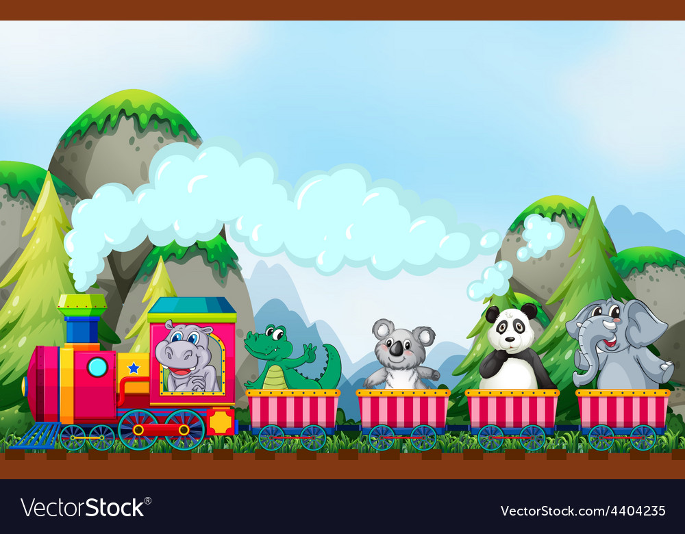 Animal and train vector | Price: 3 Credit (USD $3)