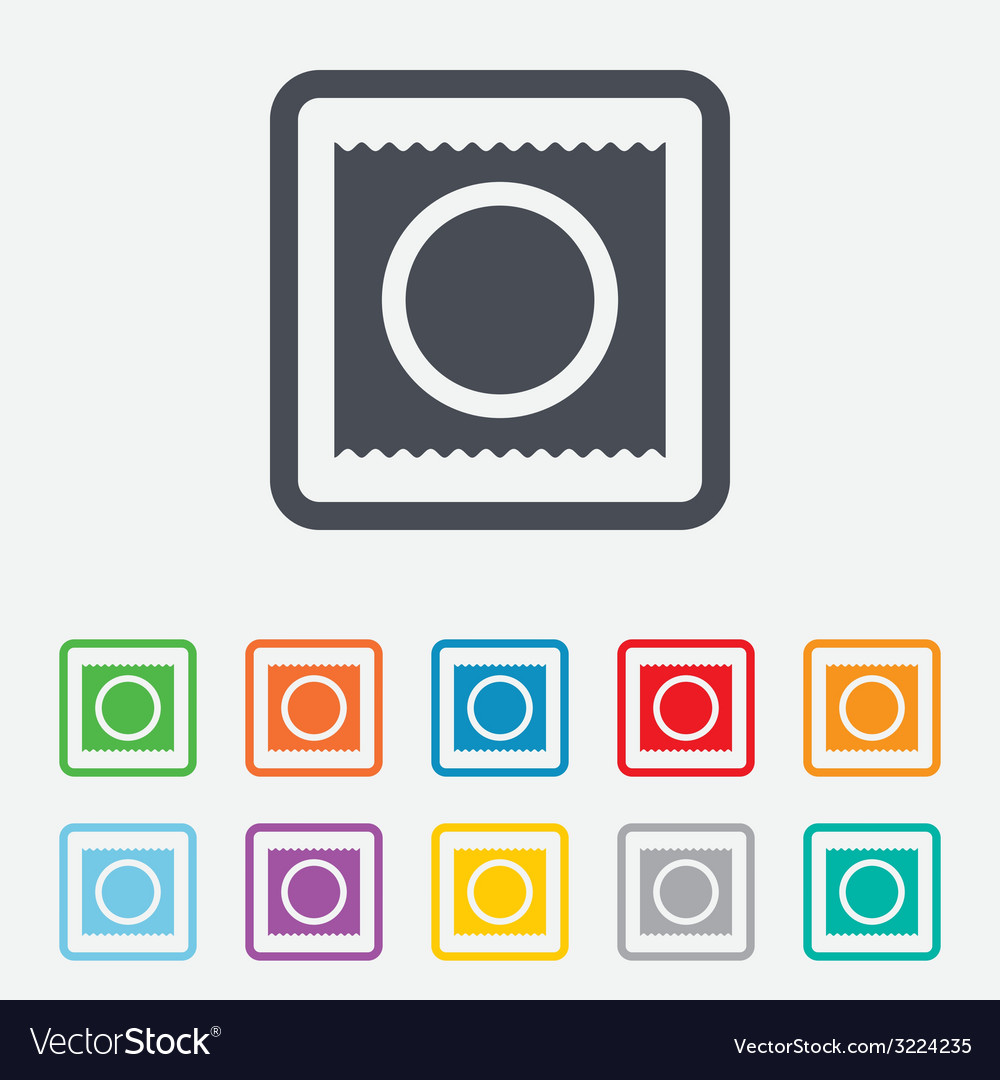 Condom in package safe sex sign icon safe love vector | Price: 1 Credit (USD $1)
