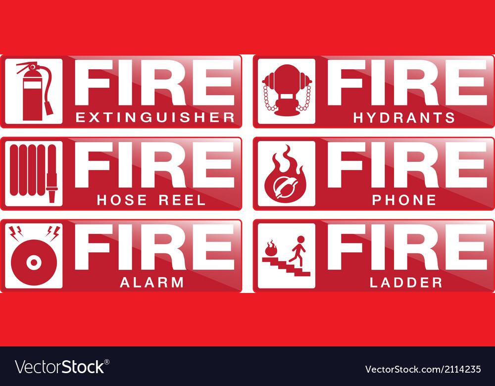 Fier equipment sign vector | Price: 1 Credit (USD $1)