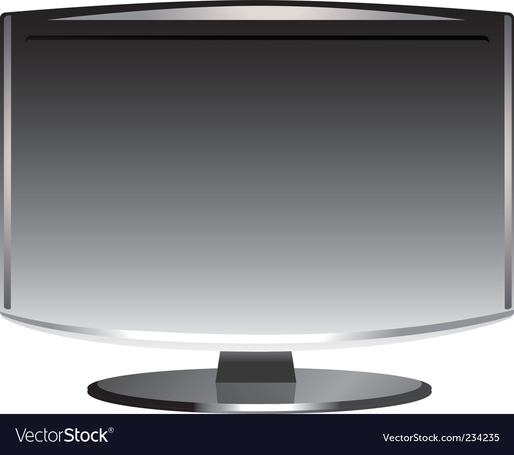 Flat screen vector | Price: 1 Credit (USD $1)