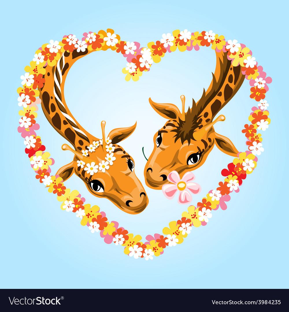Giraffes vector | Price: 3 Credit (USD $3)