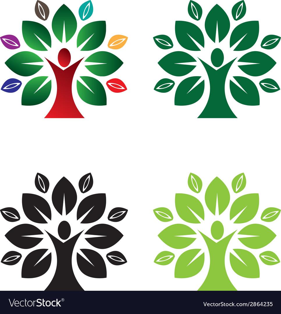 Green eco tree vector | Price: 1 Credit (USD $1)