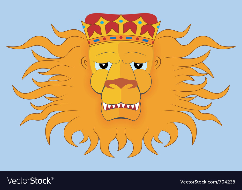 Heraldic lions head vector | Price: 1 Credit (USD $1)