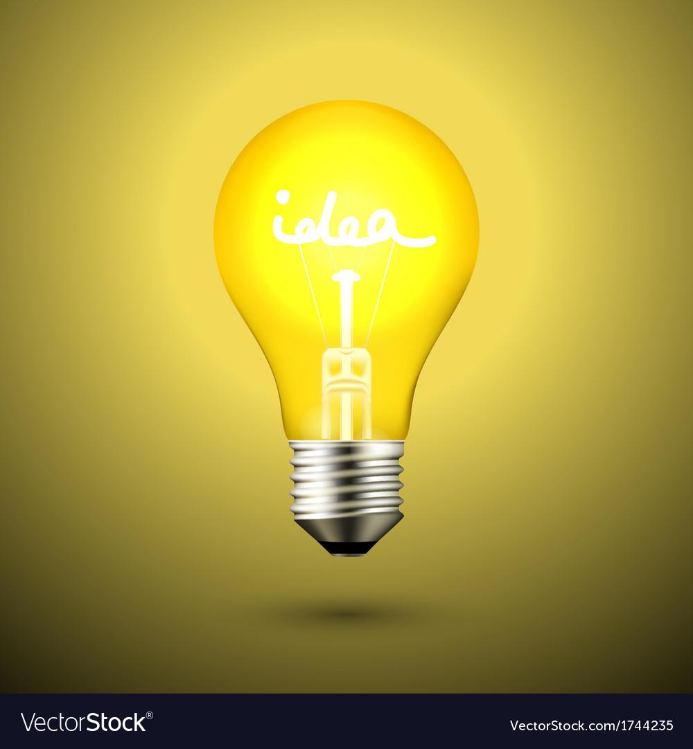 Idea light bulb vector | Price: 1 Credit (USD $1)