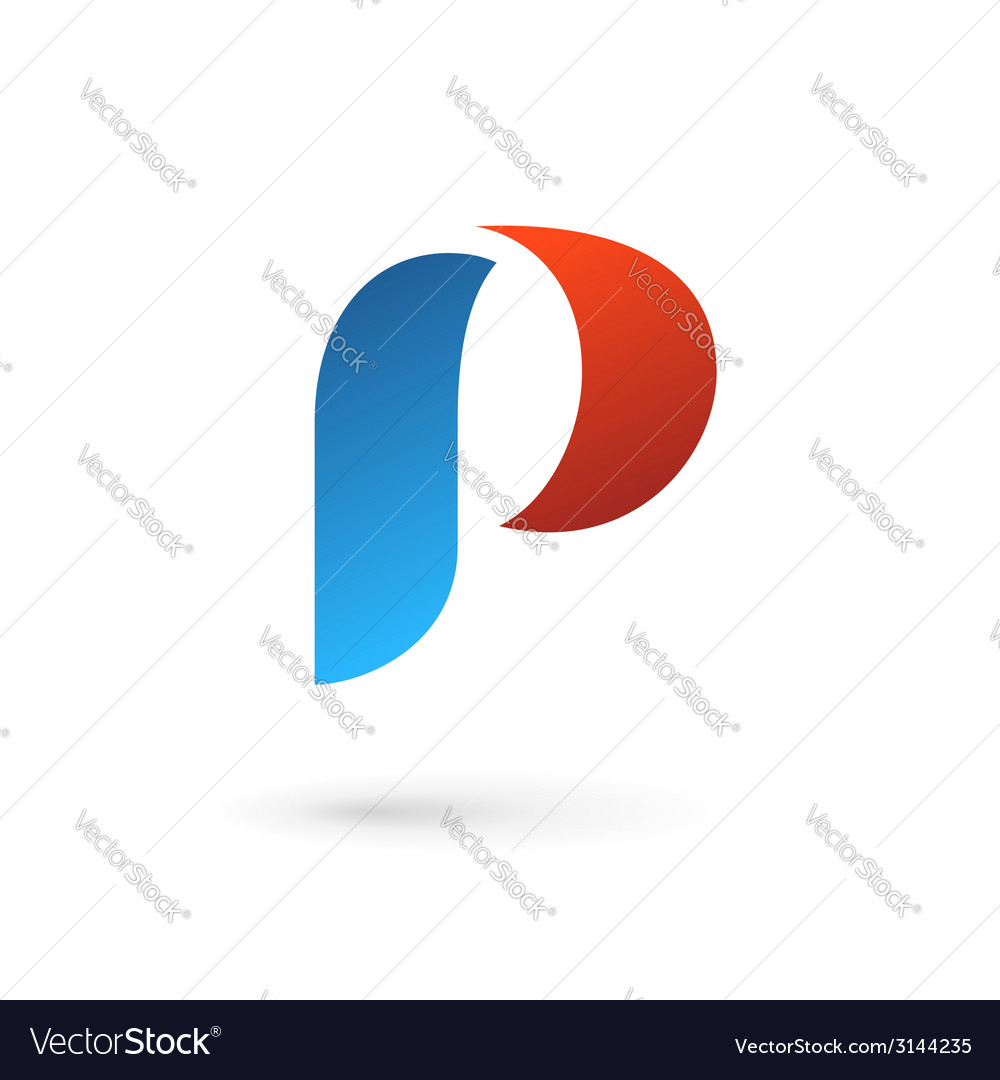 Letter p logo icon design template elements vector | Price: 1 Credit (USD $1)