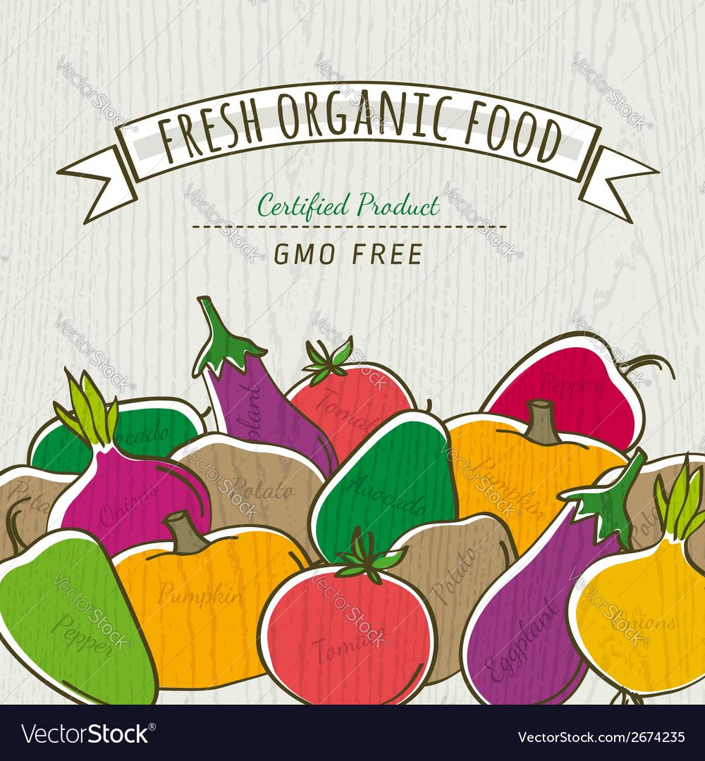 Set of organic vegetable vector | Price: 1 Credit (USD $1)