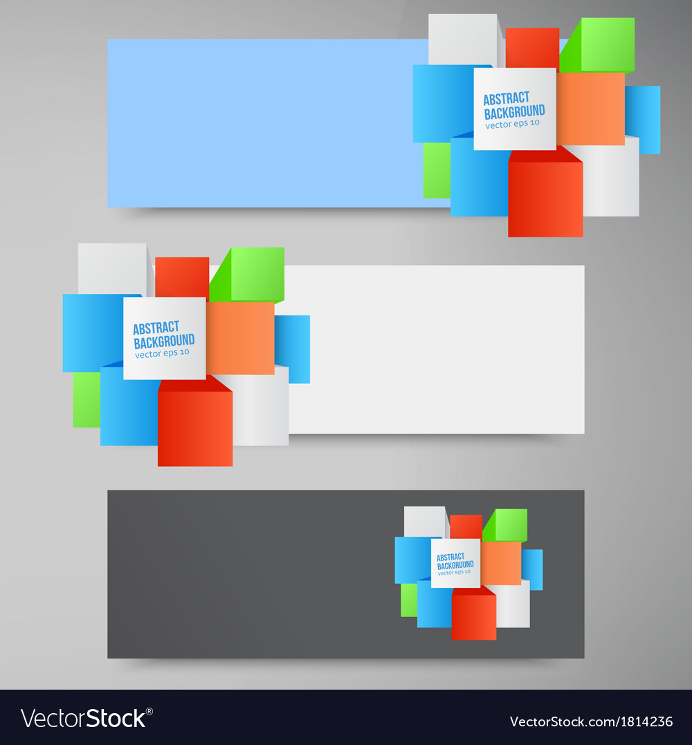 Abstract background square 3d object vector | Price: 1 Credit (USD $1)