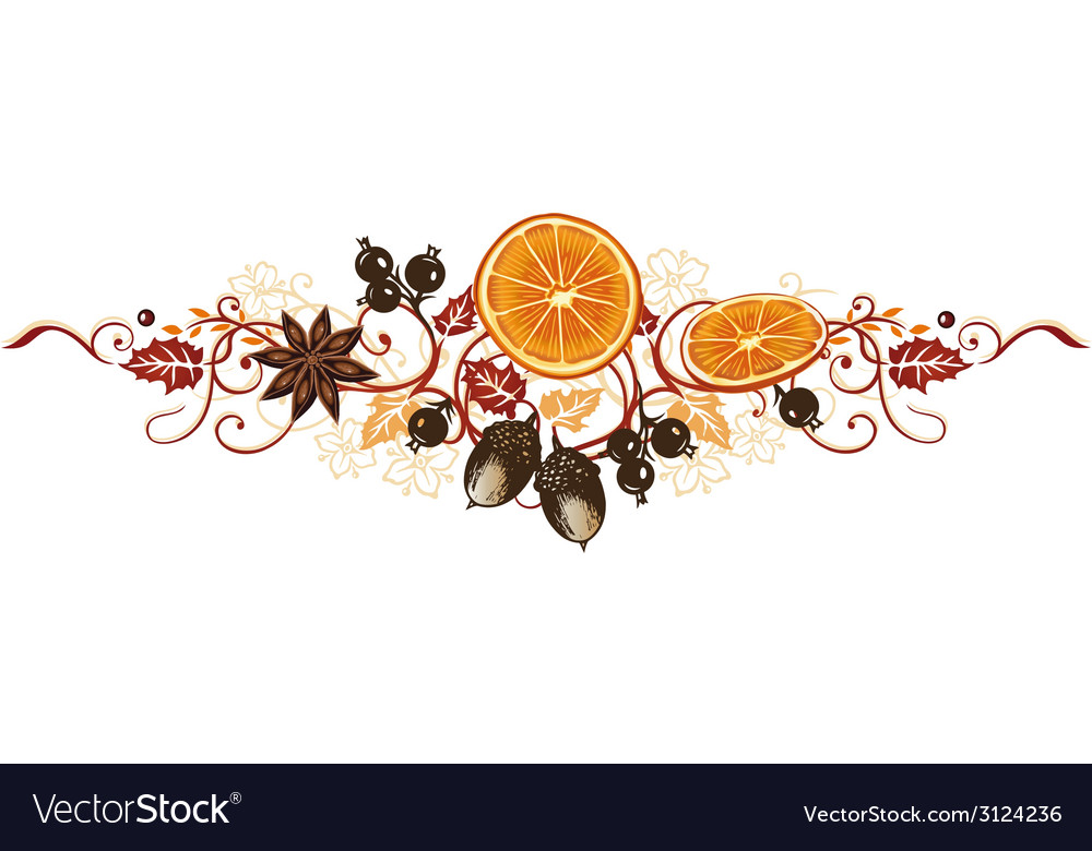 Autumn decoration vector | Price: 1 Credit (USD $1)