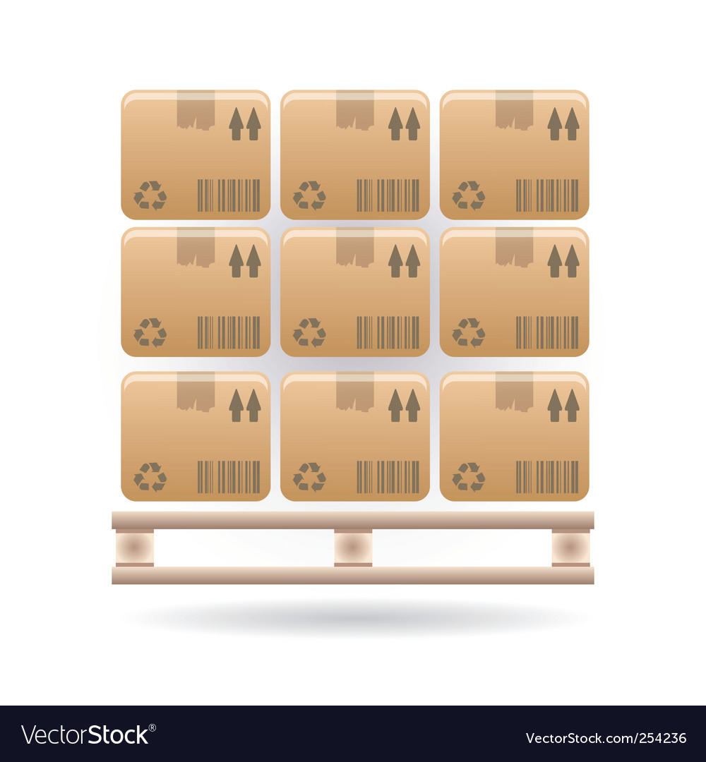 Boxes icon vector | Price: 1 Credit (USD $1)