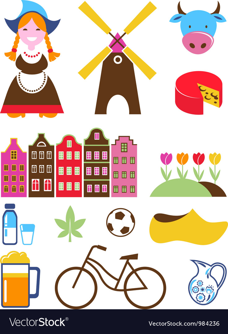 Collection of netherlands icons vector | Price: 3 Credit (USD $3)
