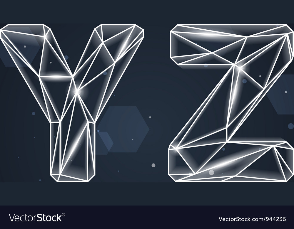 Constellation geometric font y-z vector | Price: 3 Credit (USD $3)