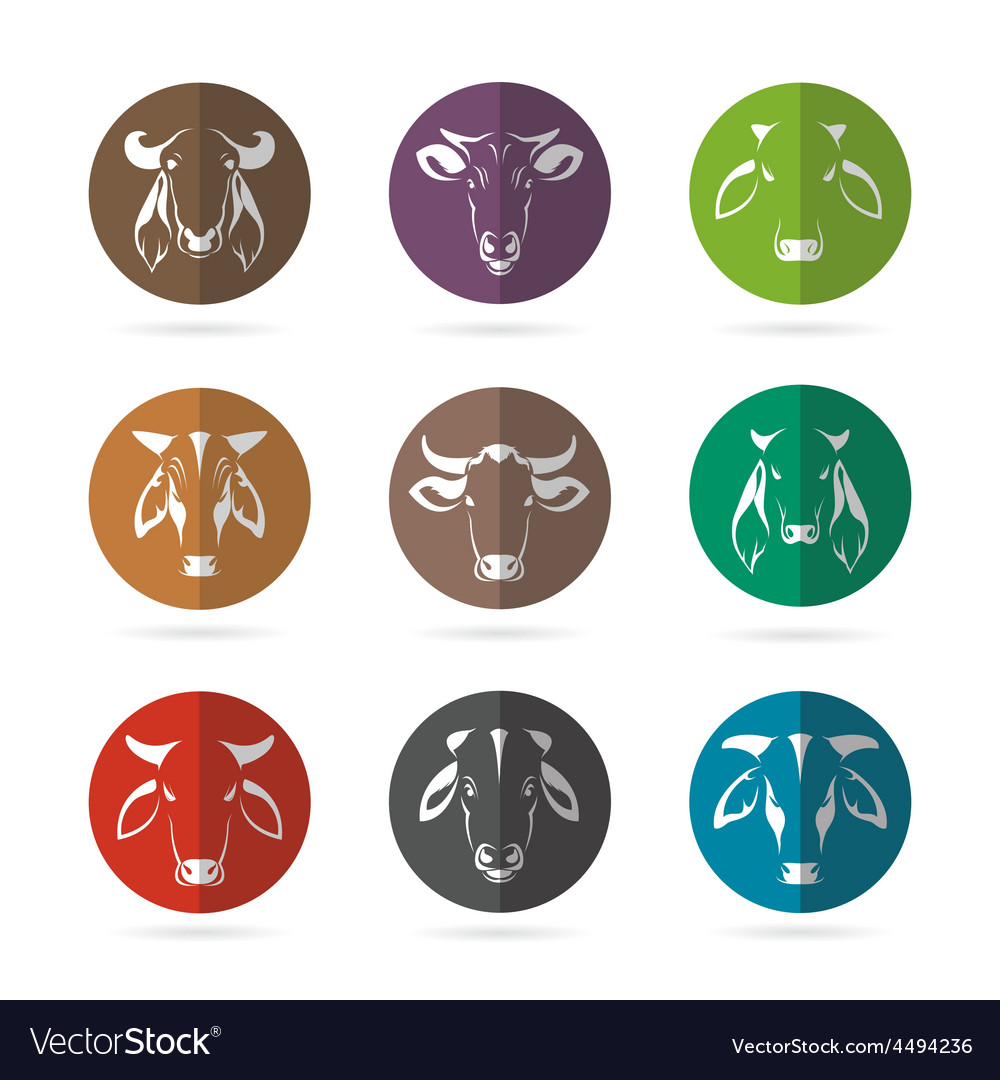 Cow in circle vector | Price: 1 Credit (USD $1)